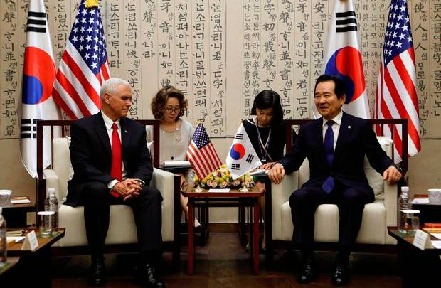 Vice President Pence Meeting with Speaker of the National Assembly Chung Sye-Kyun