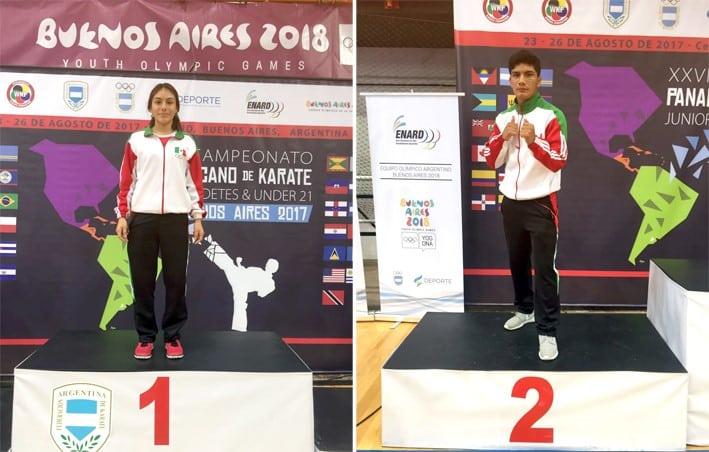 Atletas Navales obtienen oro y plata en el Campeonato Panamericano Infantil y Juvenil Karate Do 2017