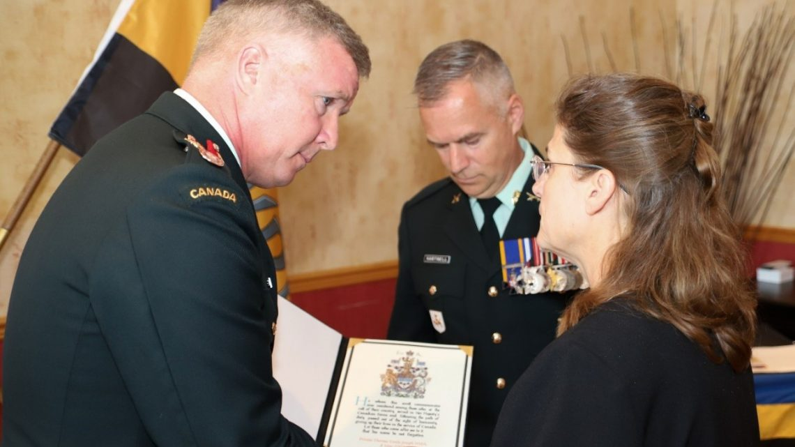 Canadian Army honours the memory of Private Thomas Welch at memorial service