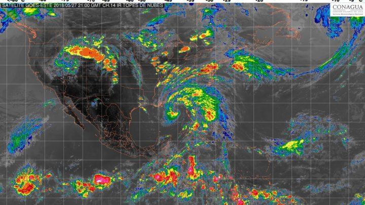 Esta noche se prevén tormentas intensas en regiones de Oaxaca y Chiapas
