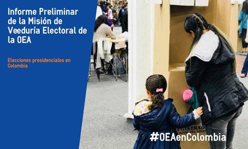 Misión de la OEA en Colombia destaca tranquilidad y aumento en la participación electoral