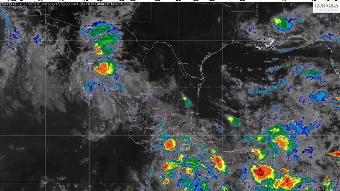 Cuatro sistemas meteorológicos ocasionarán durante las próximas horas lluvias en la mayor parte de México