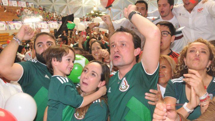 Celebra Mikel triunfo de la selección mexicana y afirma que dará campanazo ganando a Morena, como hoy lo hizo México contra Alemania
