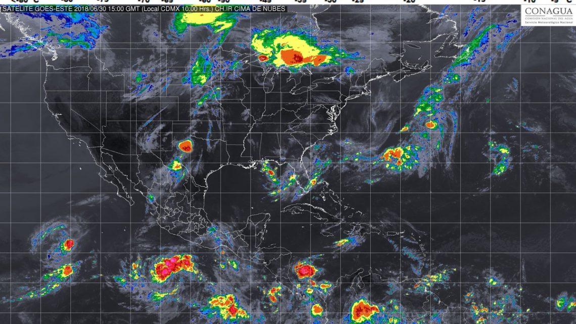 Tormentas muy fuertes con posible granizo, se prevén hoy en Chihuahua, Coahuila, Durango, Nayarit y Michoacán