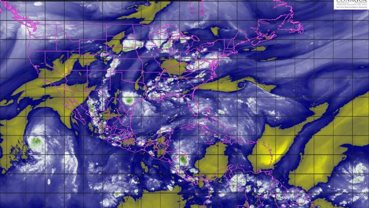 Se prevén para esta noche lluvias puntuales fuertes en 14 estados de México