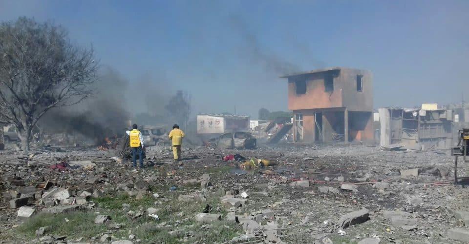 Protección Civil de ALDF pide investigar a fondo explosión en Tultepec donde perecieron 24 personas y medio centenar de heridos