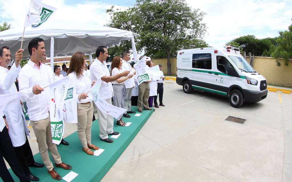 Fortalece IMSS Prospera su capacidad de traslados con 20 nuevas ambulancias