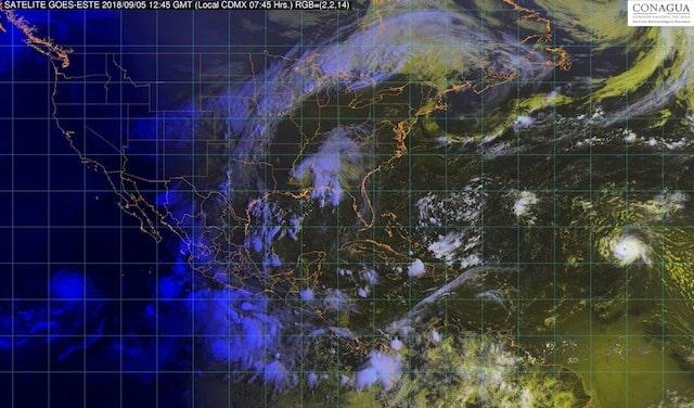 Tormentas intensas, actividad eléctrica y granizo, se prevén para Coahuila, Nuevo León, Tamaulipas, San Luis Potosí y Chiapas