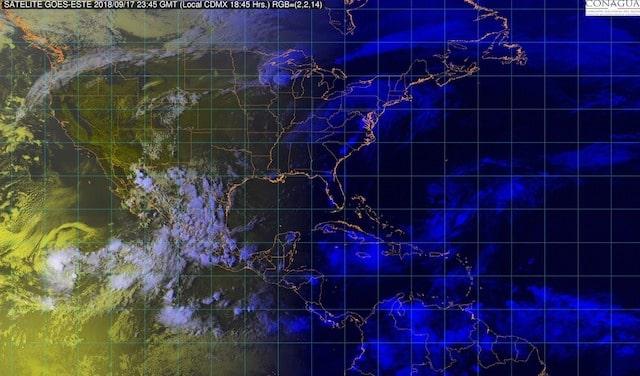 La noche de hoy se prevén lluvias muy fuertes en nueve entidades de México