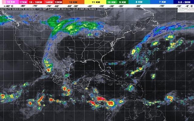 Se prevén tormentas torrenciales en Sonora e intensas en Sinaloa, Chihuahua y Chiapas