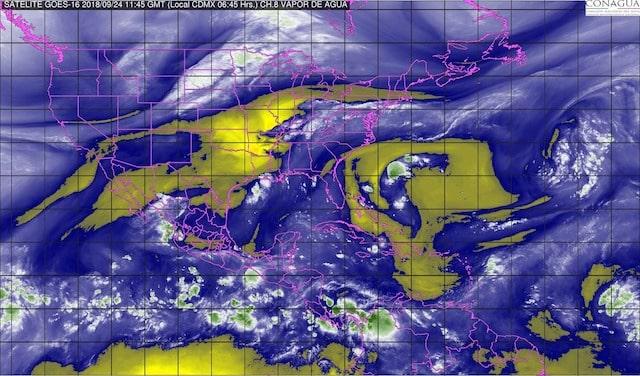 Durante las próximas horas se prevén tormentas intensas en Guerrero, Oaxaca, Chiapas, Puebla, Veracruz y Tabasco