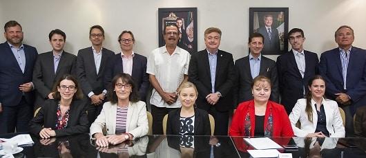 Recibe Gobernador Francisco Vega a misión comercial de la Unión Europea