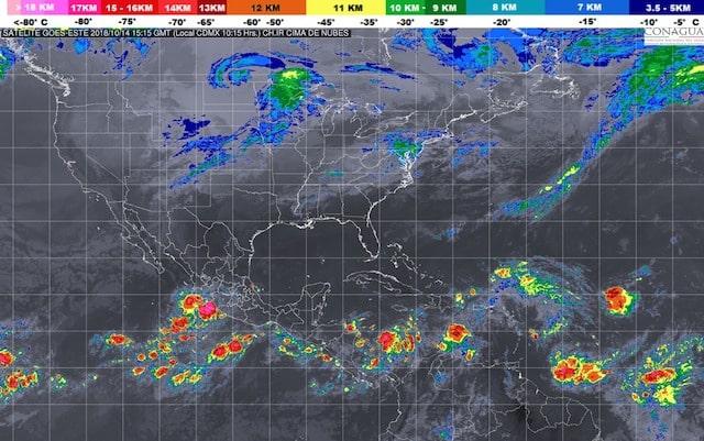 Depresión Tropical 22-E se formó en el Océano Pacífico frente a costas de Colima y Michoacán