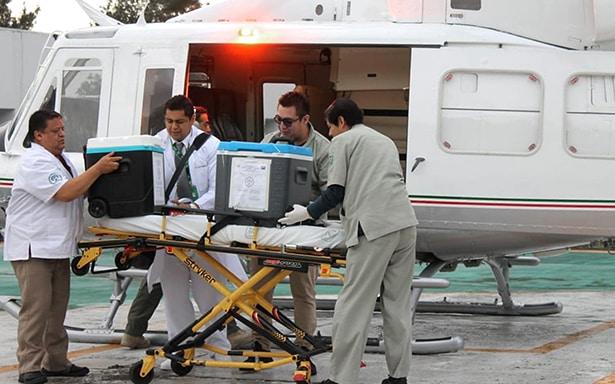 """Llegan desde Durango, corazón e higado para ser trasplantados en el Hospital """"La Raza"""" del IMSS"""