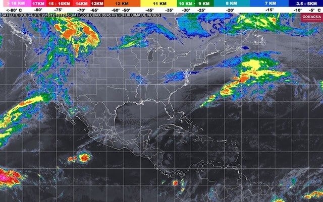 Frente Frío Número 16 hoy generará ambiente frío en gran parte de México