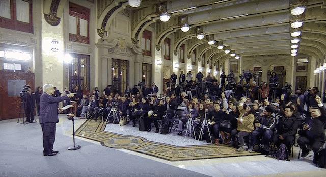 Tarjeta informativa de la Conferencia de Prensa Matutina del presidente López Obrador 10/12/18