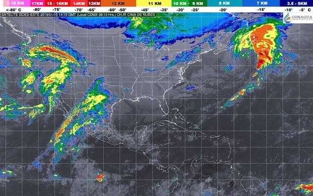 Se prevén lluvias puntuales muy fuertes en zonas de Veracruz, Tabasco, Oaxaca y Chiapas