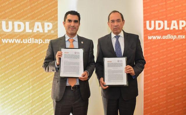 Firman convenio de colaboración UDLAP y CANACO Puebla