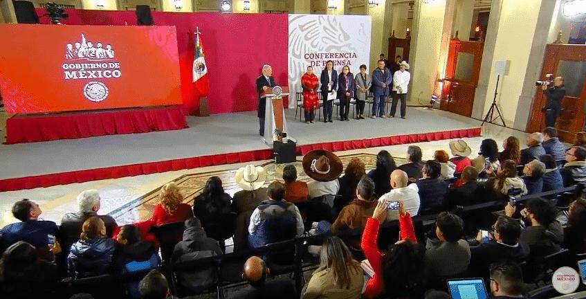 Tarjeta informativa de la Conferencia de Prensa Matutina del presidente López Obrador 11/01/19