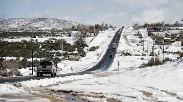 Emite Gobierno de Baja California alerta ante pronóstico de nevadas