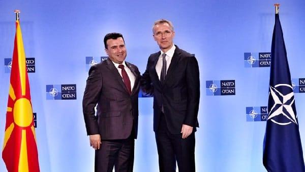 NATO Secretary General welcomes the Prime Minister Zoran Zaev of North Macedonia