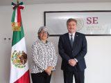 Se reúne gobernador Kiko Vega con secretaria de economía Graciela Márquez