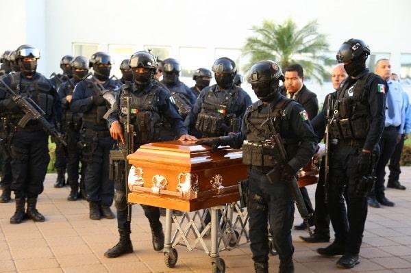 SSP Sinaloa rinde homenaje póstumo al Policía Estatal Preventivo Miguel Ángel