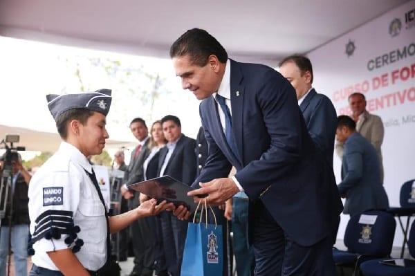 Se integran 216 cadetes a la Policía Michoacán