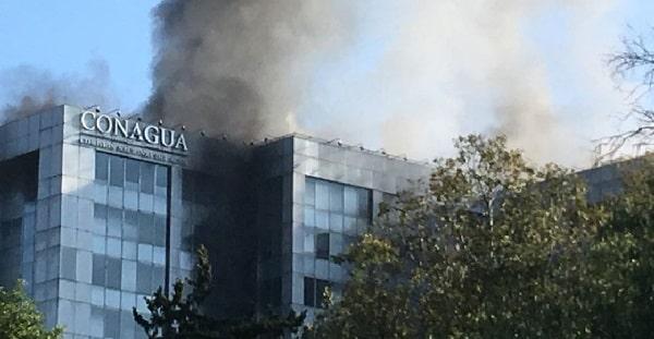 Informe de Conagua sobre el incendio registrado en sus instalaciones