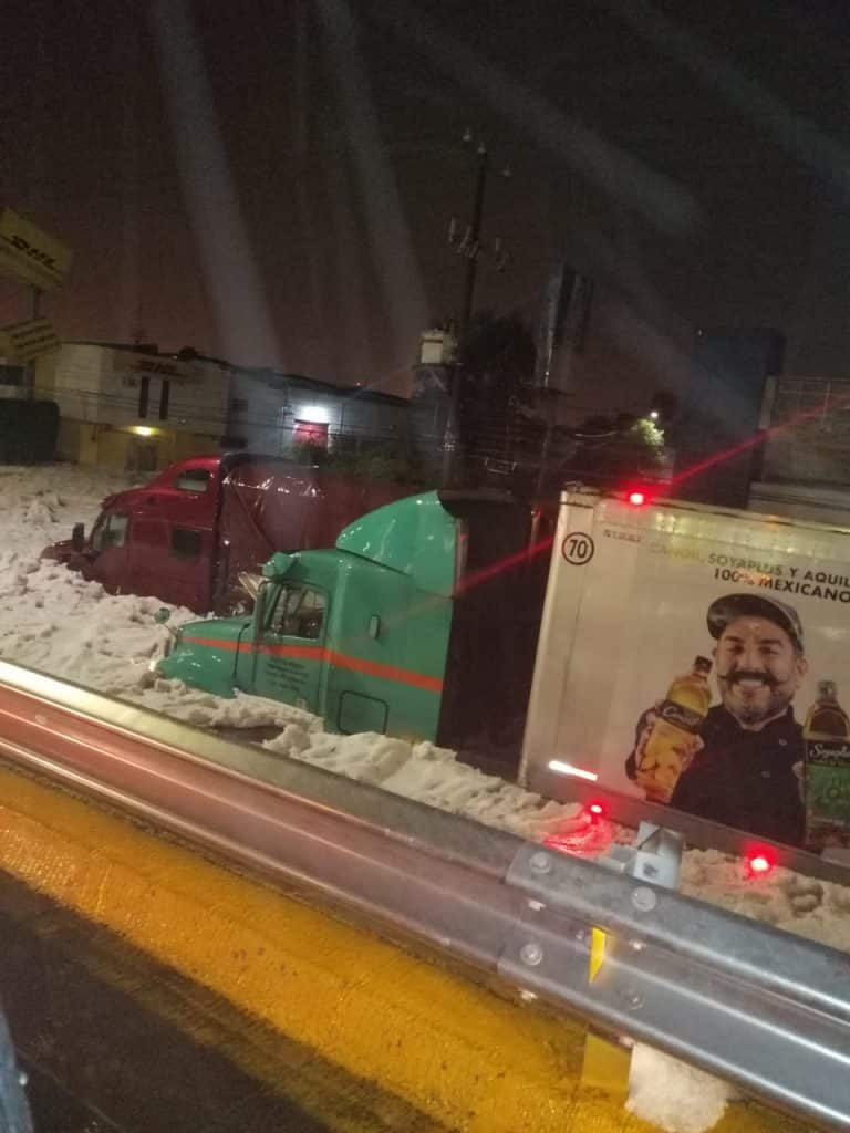 Granizo en Guadalajara. Foto: Twitter