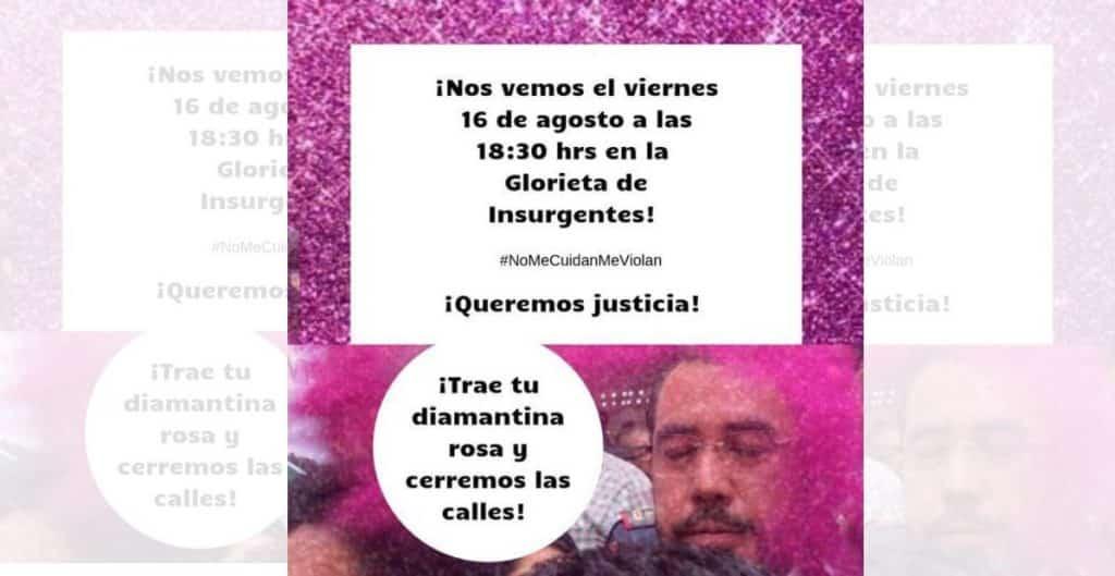 Convocan a nueva manifestación por casos de violaciones cometidas por policías de la CDMX