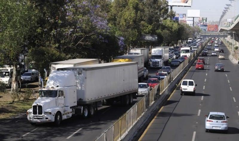 Horarios de circulación para transporte de carga en CDMX