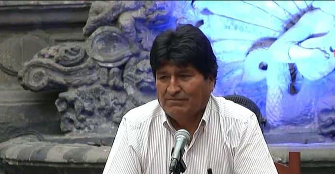conferencia Evo Morales en México