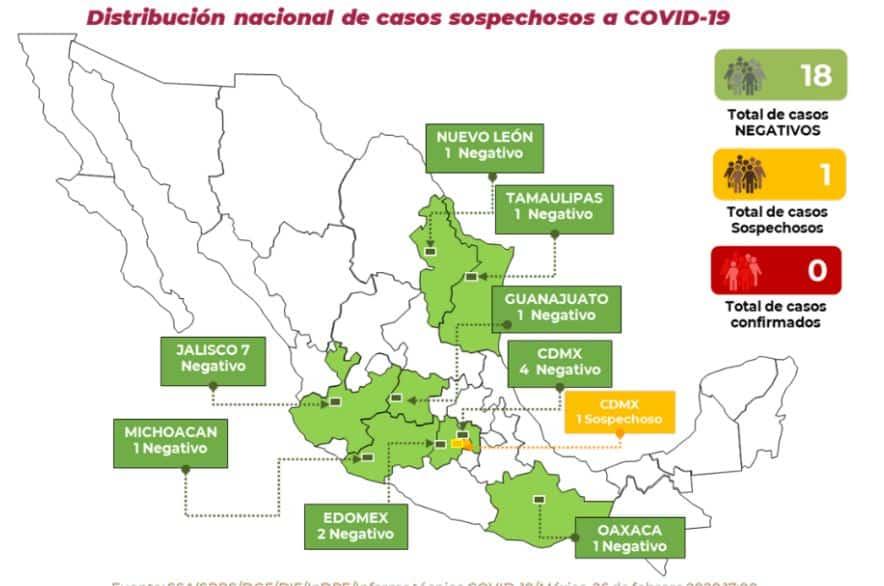 caso sospechoso de coronavirus covid-19 en cdmx 26 de febrero
