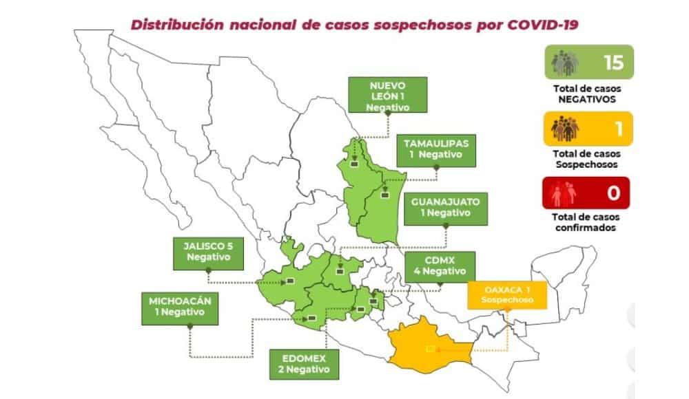 nuevo caso sospechoso de coronavirus COVID-19