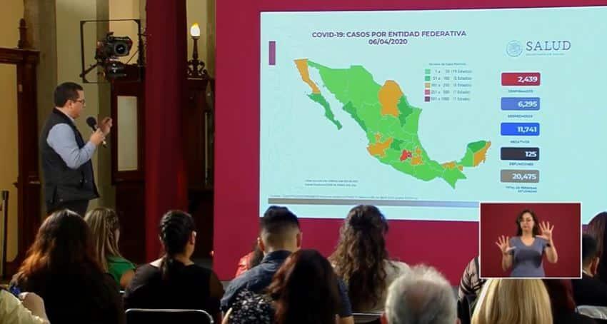coronavirus en México al 6 de abril