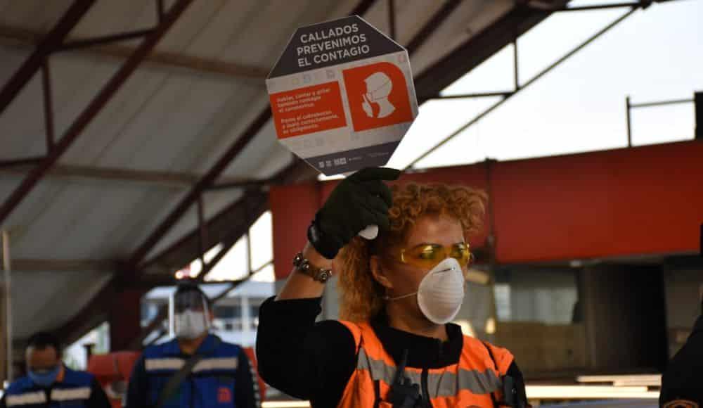 El Metro pide a usuarios callarse para evitar contagios de COVID-19