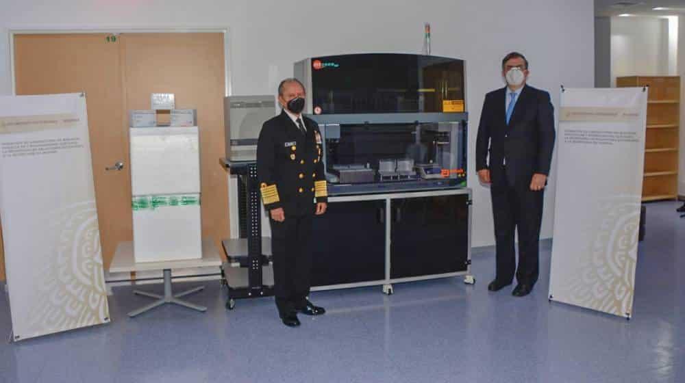 Donan equipos de detección de SARS-CoV-2 al Centro Médico Naval