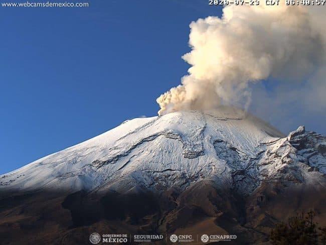 Comité Científico analiza la actividad reciente del Popocatépetl